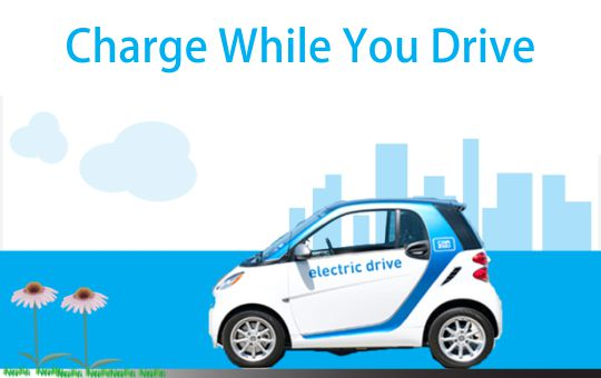 UK tests for electric cars: 'charge while you drive'