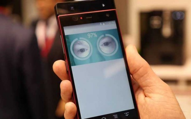 First Fujitsu's Smartphone with Iris Authentication