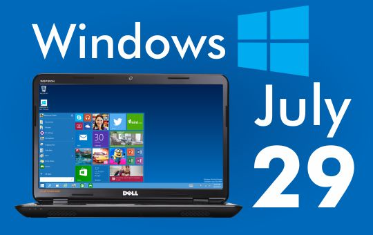 Microsoft launching Windows 10 on July 29 2015.