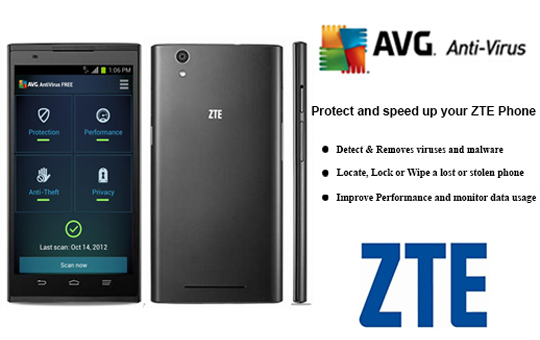 AVG's AntiVirus Pro software on all new ZTE phones