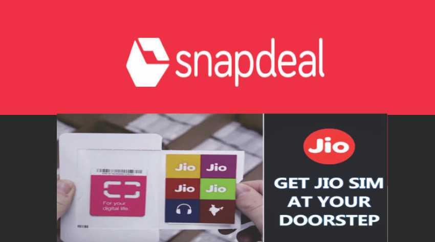 Snapdeal to Home Deliver Reliance Jio SIM Cards