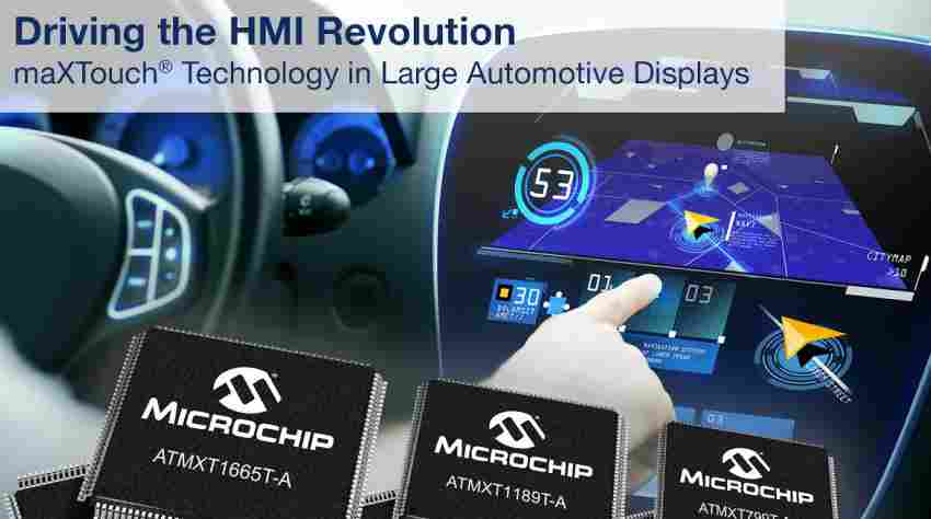 New family of maXTouch® touchscreen controllers designed for large screen automotive HMI designs