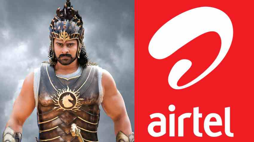 Airtel joined hands with Baahubali 2 to fight the stiff competition in the telecom industry